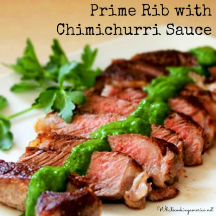 Zesty Prime Rib Steak with Chimichurri Sauce
