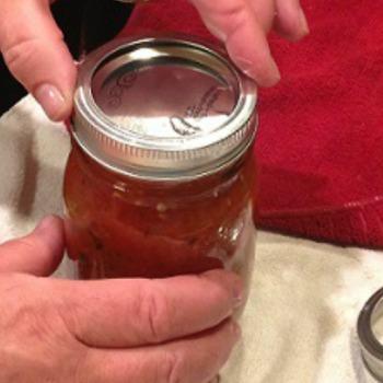 Screwing lids on jars