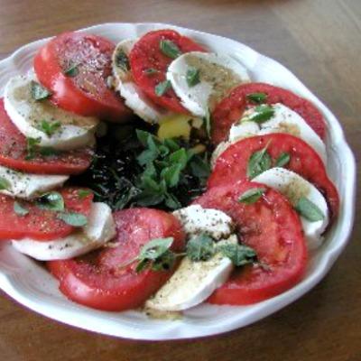 Plate of Tomato Caprese Salad