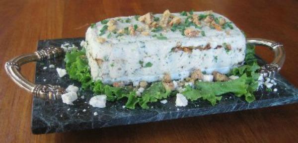 blue cheese walnut terrine