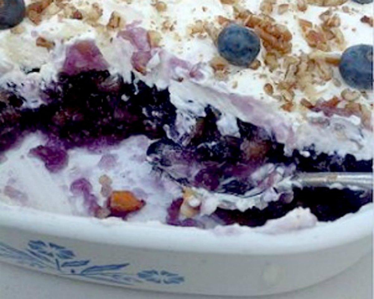 Blueberry Jello Salad Recipe Whats Cooking America