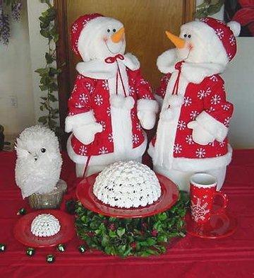 Snowball Cake Displayed