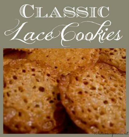 classic lace cookies