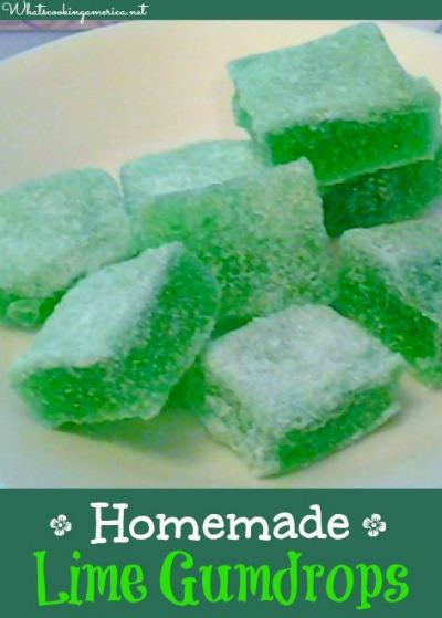 Homemade Lime Gum Drops