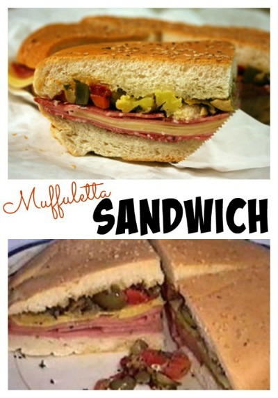 Muffuletta Sandwich collage