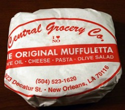 Wrapped Muffuletta Sandwich