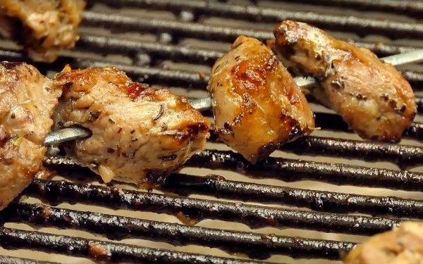 Spiedie Sandwich meat grilling