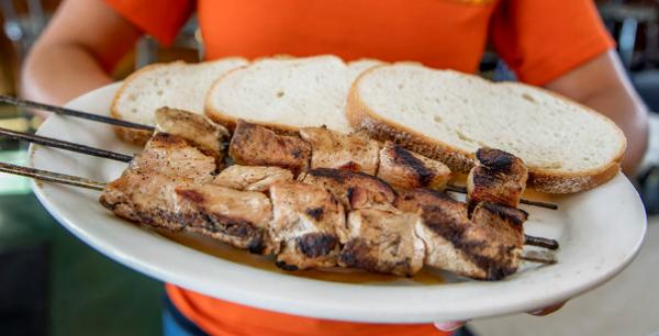 Spiedie Sandwich Tray