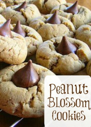 Peanut Blossom Cookies - Peanut Butter Kiss Cookies