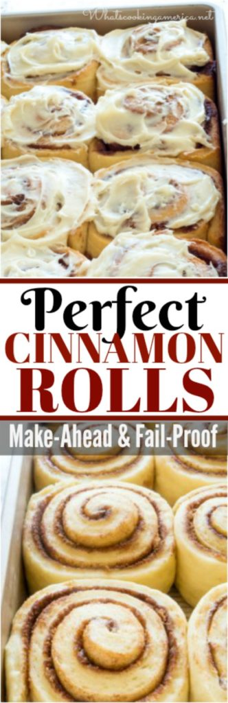 Perfect Cinnamon Rolls-a make ahead and fail-proof recipe