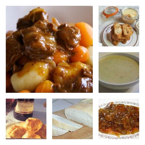 French Bistro Dinner Menu collage
