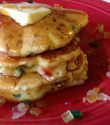 Egg Nog Christmas Pancakes