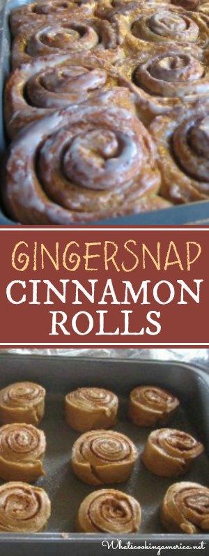 Gingersnap Cinnamon Rolls