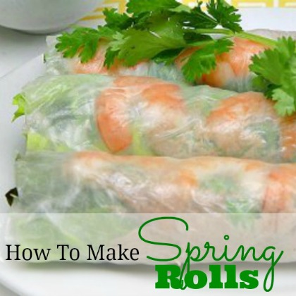 Spring Rolls Recipe Whats Cooking America