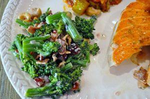 Plated Broccoli Salad