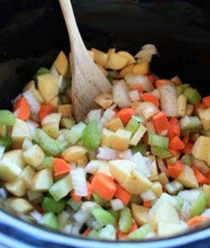 Preparing Chicken and Dumplings