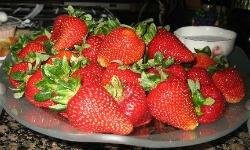 Stuffed Roasted Strawberries