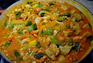 Pork Stew simmering