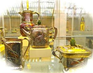 Hammered Silver Tea Set