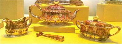 Tiffany Tea Set (Silver and Ivory), 1888