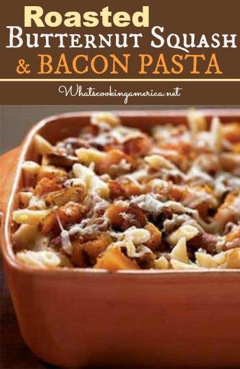 Butternut Squash Bacon Pasta