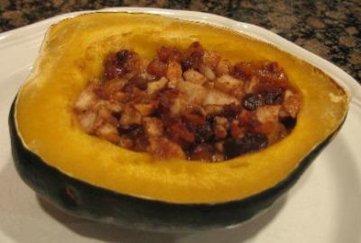 Fruit Stuffed Acorn Squash