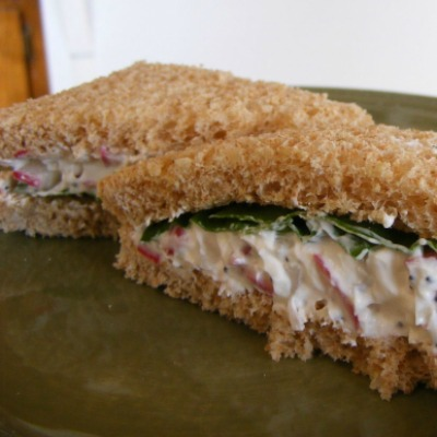 Radish Poppy Seed Tea Sandwich