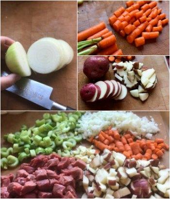 Vegetable Beef Soup-Vegetable prep