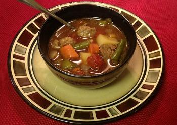 Stove Top Method Vegetable Beef Soup