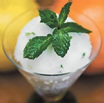 Minty Grapefruit Sorbet