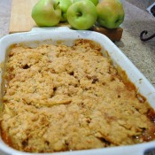 Lemon Pecan Apple Crisp