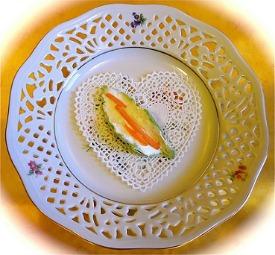 Decorating teatime sandwiches