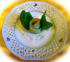 Decorating teatime sandwich