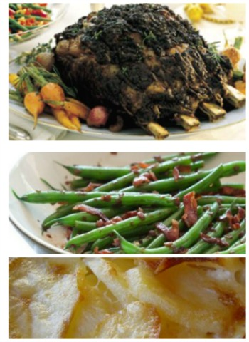 Christmas Prime Rib Dinner Menu And Recipes, Whats Cooking America