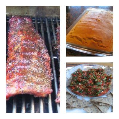 Smoked pork rib dinner menu