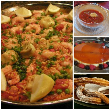 Spanish Paella Dinner soup collage