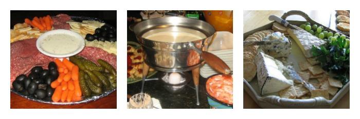 Three images of Turkey Dinner Menu Appetizer ideas