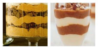 Two images of Turkey Dinner lighter desert ideas