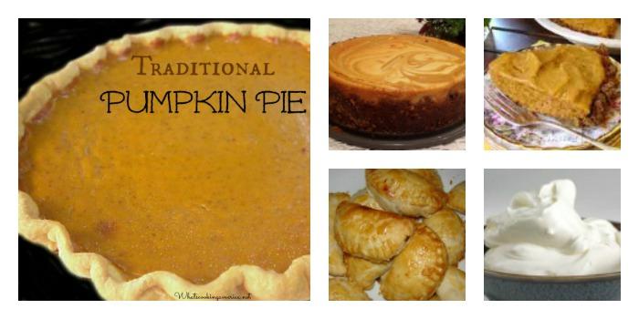 Five images of Turkey Dinner pumpkin dessert ideas