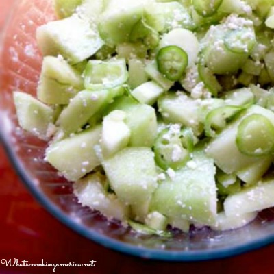 Spicy Melon Cucumber Salad