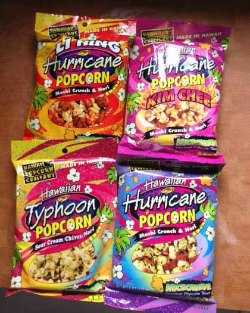 Hawaii Hurricane Popcorn samples