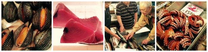 Tsukiji Fish Market Offerings
