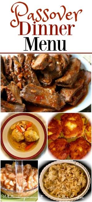 Passover Seder Dinner Menu