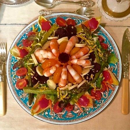 Shrimp with Quinoa Pesto Salad