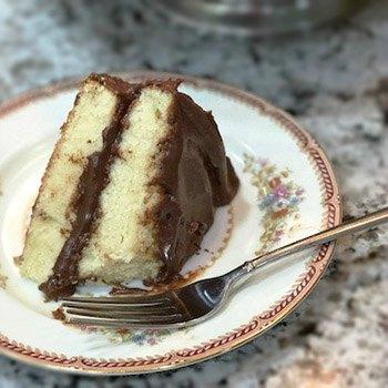 How to bake a cake -Slice of Yellow Birthday Cake