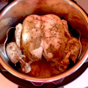 Instant Pot whole chicken cooked