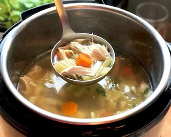 Jewish Chicken Soup-Finished cooking in Instant Pot pressure cooker