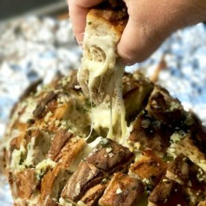 Fondue Pull Apart Bread- Fondue Crack Bread