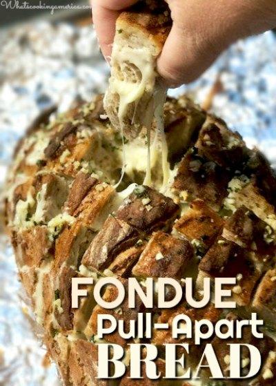 Fondue Pull-Apart Bread- Fondue Crack Bread