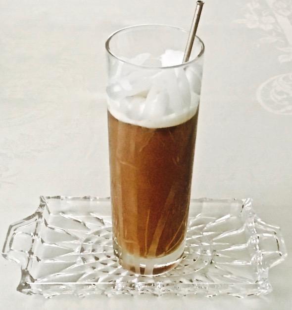 Stirring Iced Coffee